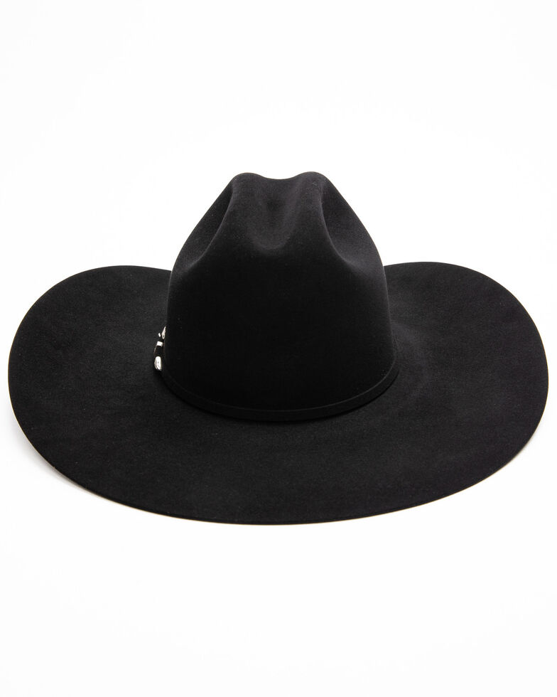 Rodeo King Men's 20X Black Felt Low Western Hat , Black, hi-res