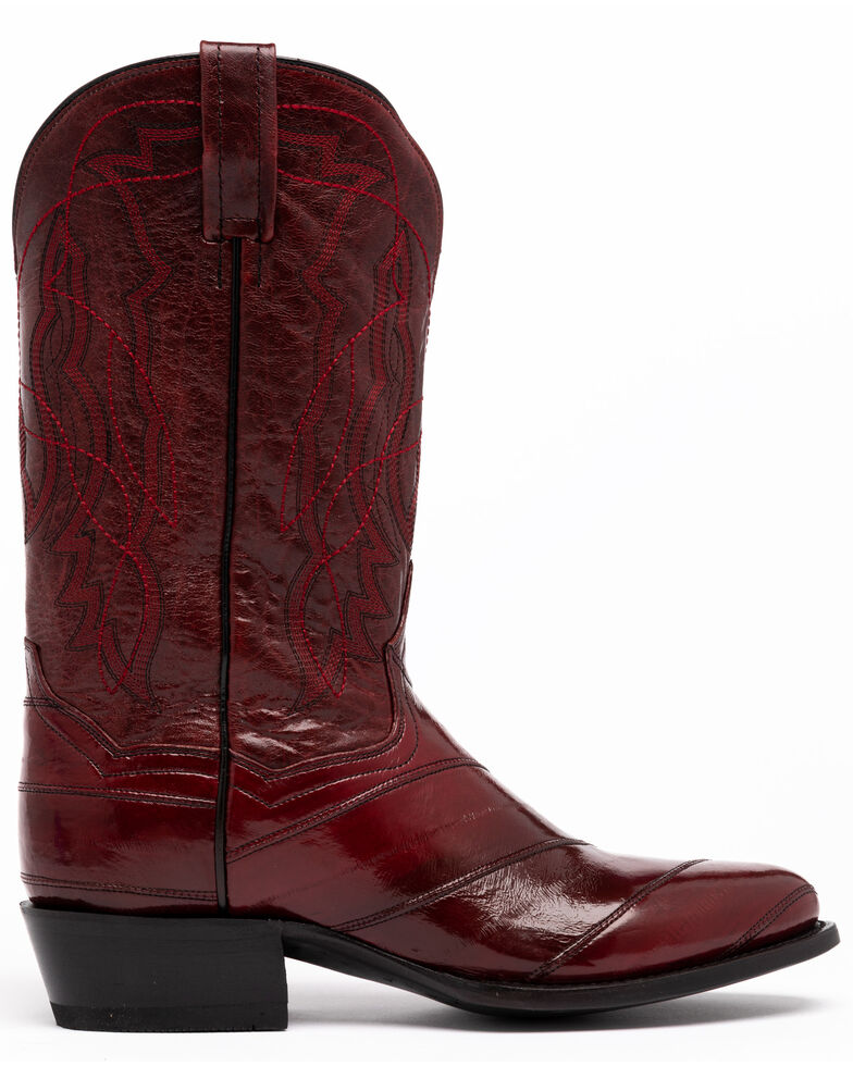 Dan Post Men's Wine Eel Western Boots - Round Toe, Wine, hi-res