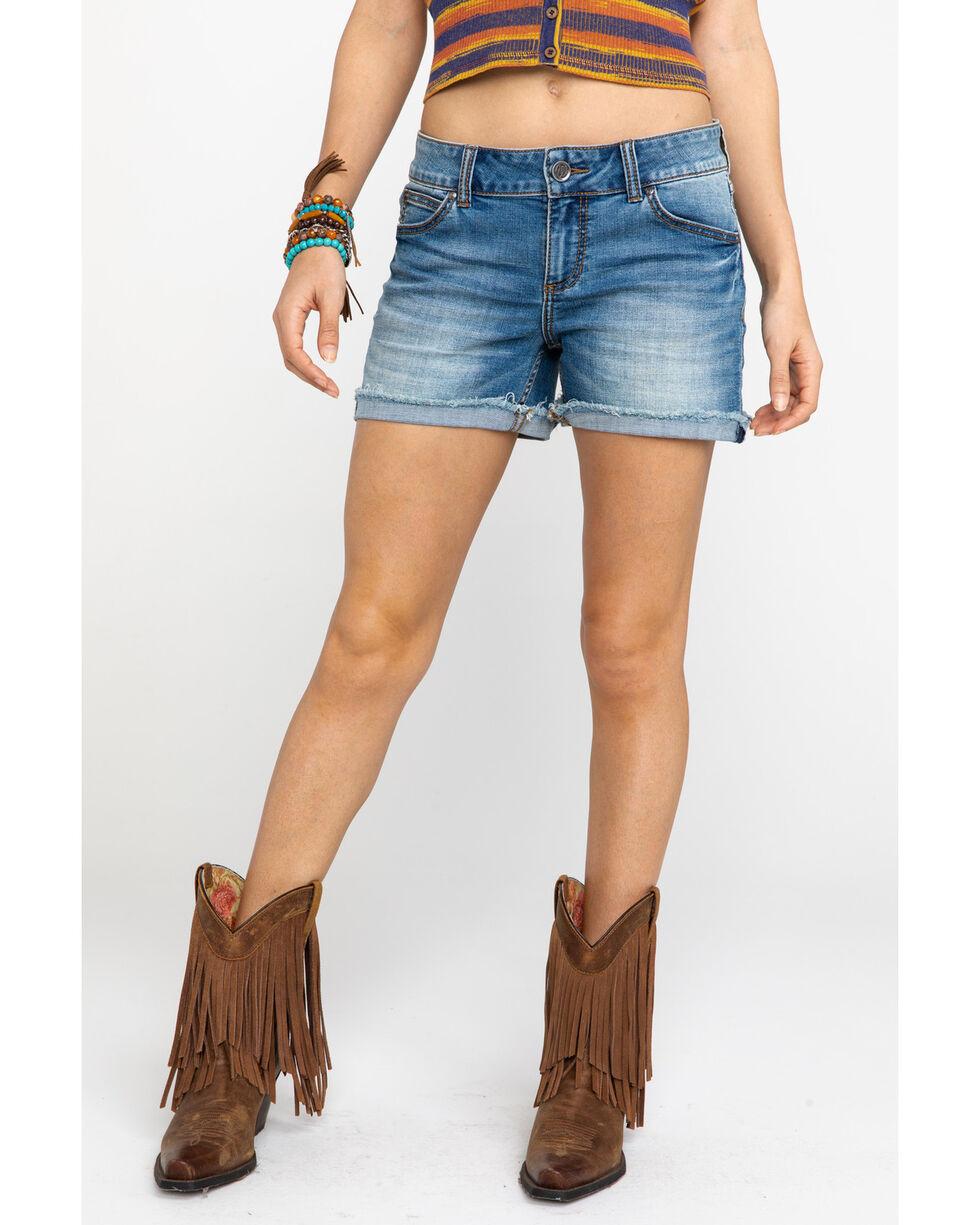 Wrangler Retro Women's Santa Fe Mid Rise Denim Shorts , Blue, hi-res