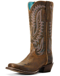 Ariat Women's Circuit Dakota Western Boots - Square Toe, Brown, hi-res