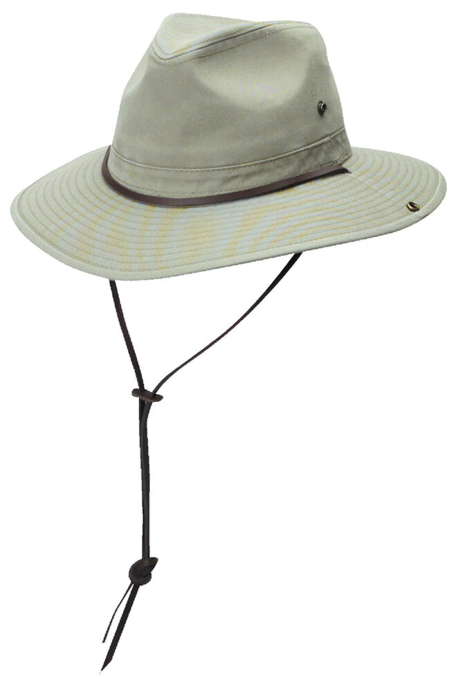DPC Authentic Khaki Safari Hat with Side Snaps - Country Outfitter f0a1d0370bf