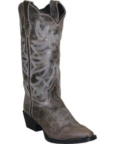 Rawhide by Abilene Boots Women's Scalloped Western Boots - Snip Toe, Grey, hi-res