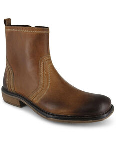 Evolutions Men's Tan Crestone Chelsea Boots - Round Toe, Tan, hi-res
