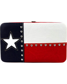 Montana West Women's Texas Pride Wallet , Red, hi-res