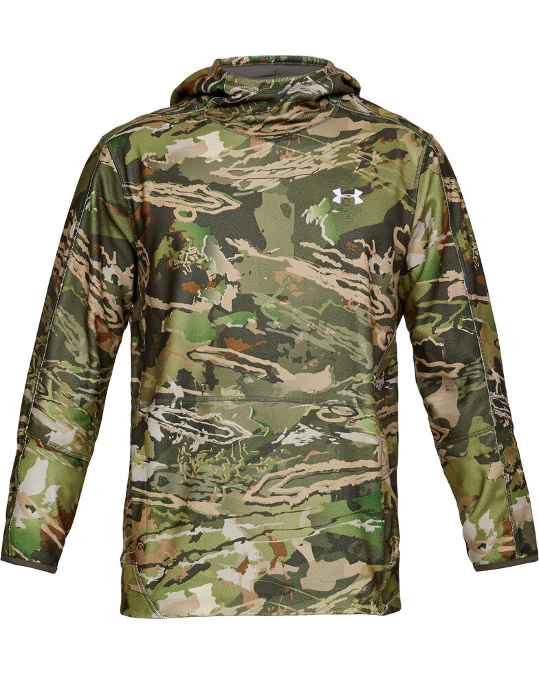 Under Armour Men's Zephyr Fleece Camo Popover, Camouflage, hi-res