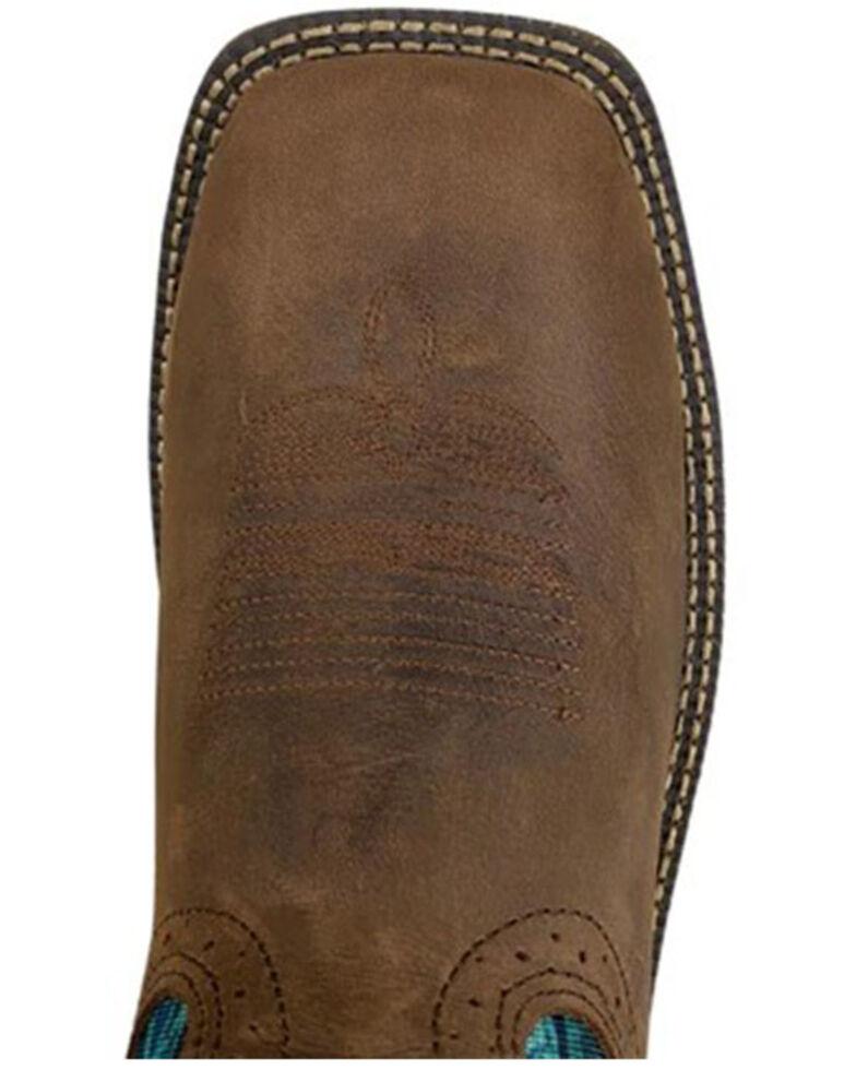 Justin Women's Rush Waterproof Western Work Boots - Soft Toe, Brown, hi-res