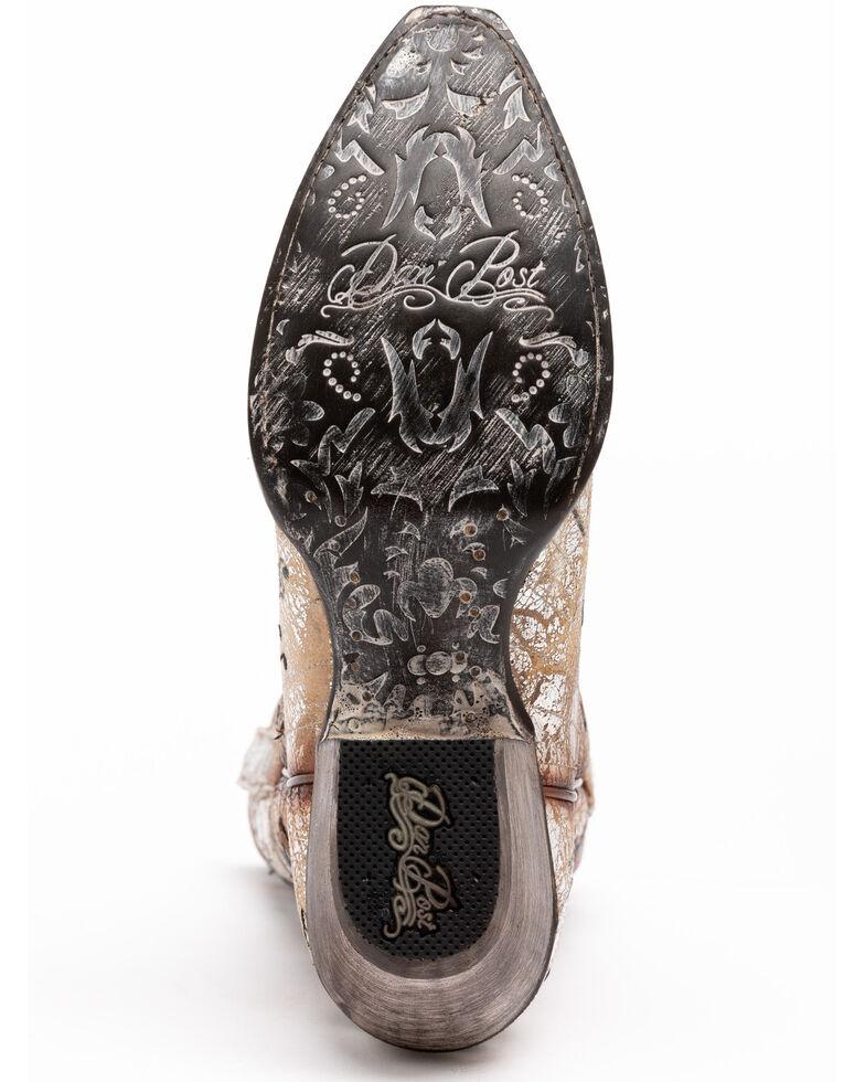 Dan Post Women's Rock & Roll Western Boots - Snip Toe, Silver, hi-res