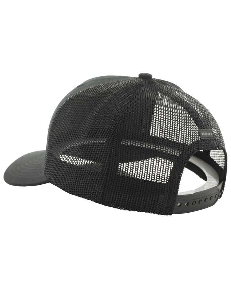 Bex Men's Black Barzo Mesh Back Cap , Black, hi-res