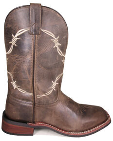 Smoky Mountain Men's Logan Western Boots - Square Toe, Brown, hi-res