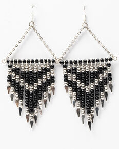 Idyllwind Women's Make Some Moves Beaded Earrings, Black, hi-res