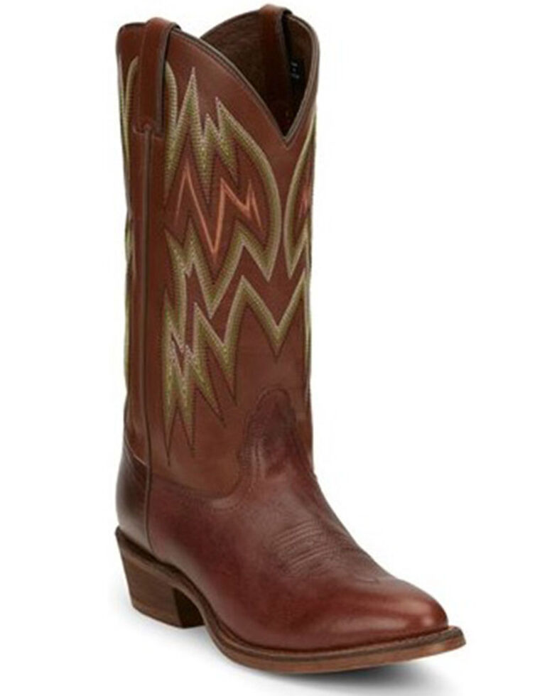 Nocona Men's Reeves Western Boots - Round Toe, Brown, hi-res