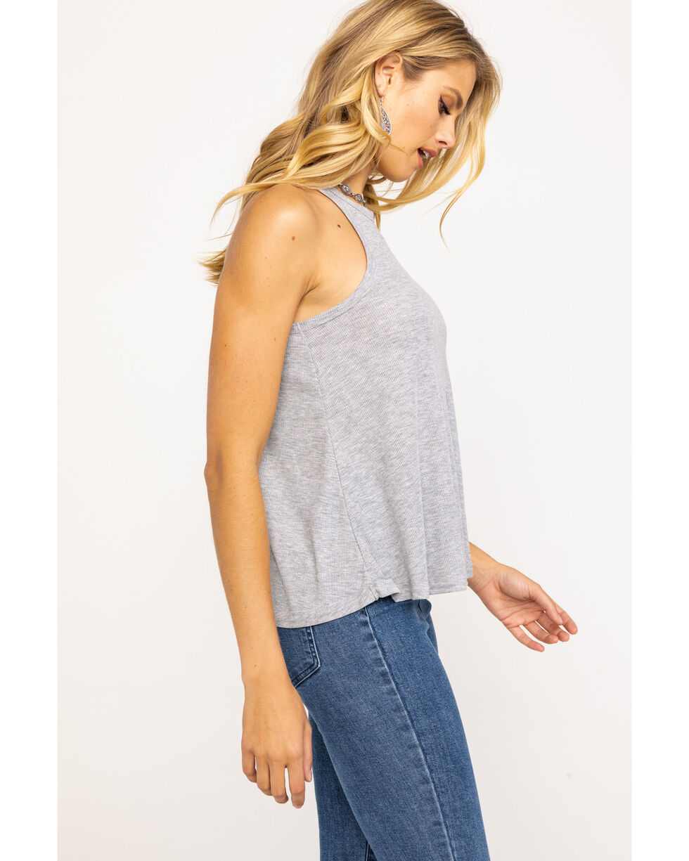 Free People Women's Long Beach Tank Top, Grey, hi-res