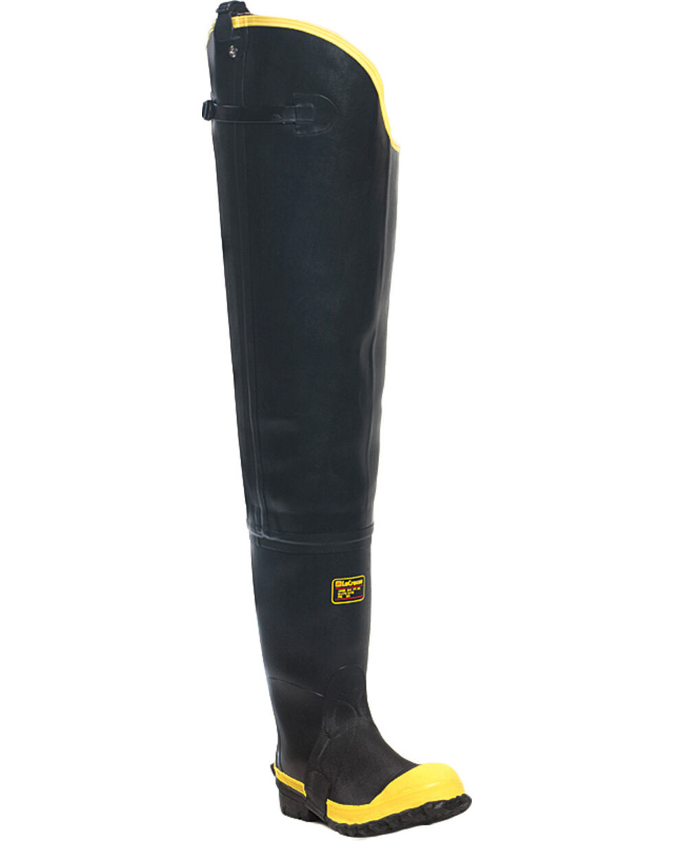 "Lacrosse Men's Storm Insulated 31"" Hip Boots - Steel Toe , Black, hi-res"
