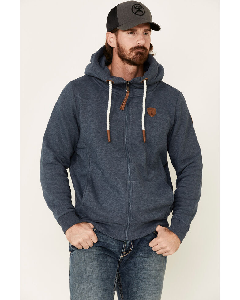 Wanakome Men's Zeus Zip-Up Hooded Sweatshirt , Charcoal, hi-res