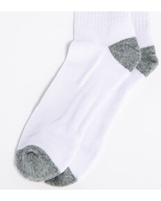 Cody James Men's Solid 3-Pack Crew Socks, White, hi-res