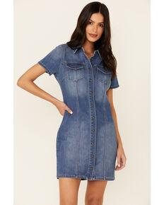 Idyllwind Women's Phoenix Denim Shirtdress, Medium Blue, hi-res