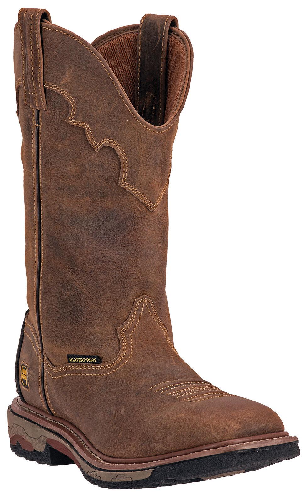 Dan Post Blayde Waterproof Wellington Work Boots - Steel Toe, Saddle Tan, hi-res