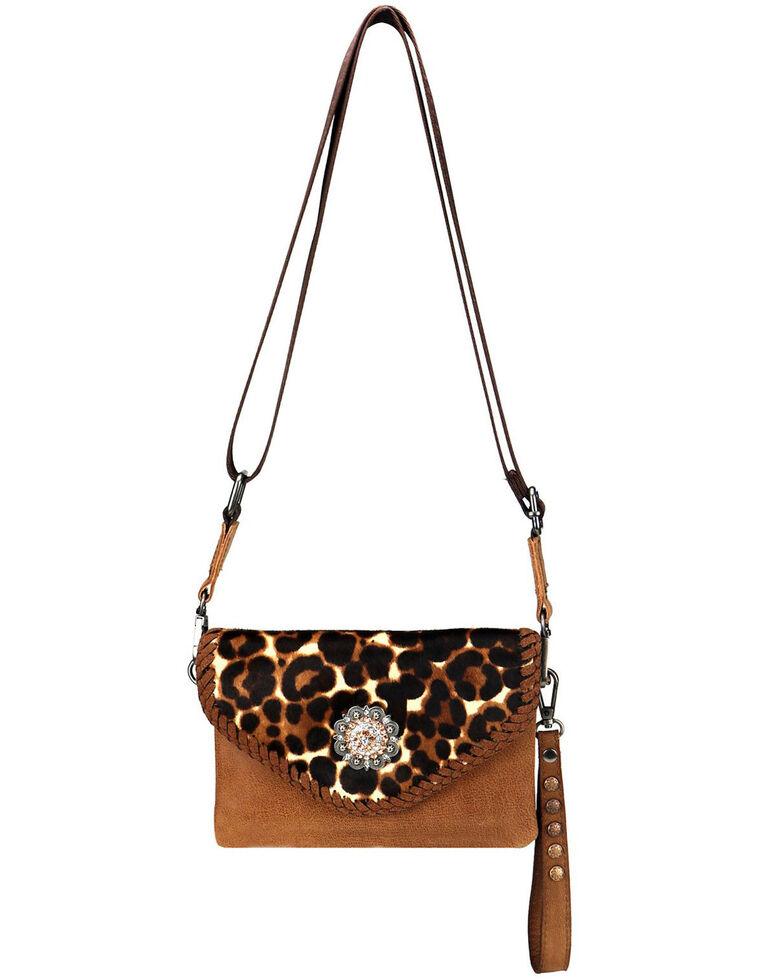 Montana West Women's Leopard Hair-On Crossbody Bag, Brown, hi-res