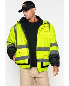 Hawx Men's Visibility Bomber Work Jacket , Yellow, hi-res