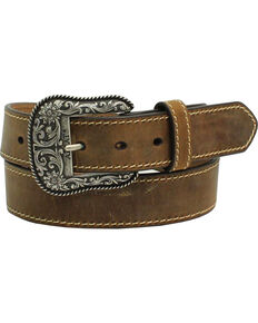 3b4d33bd0263 Ariat Women s Leather Belt with Engraved Buckle