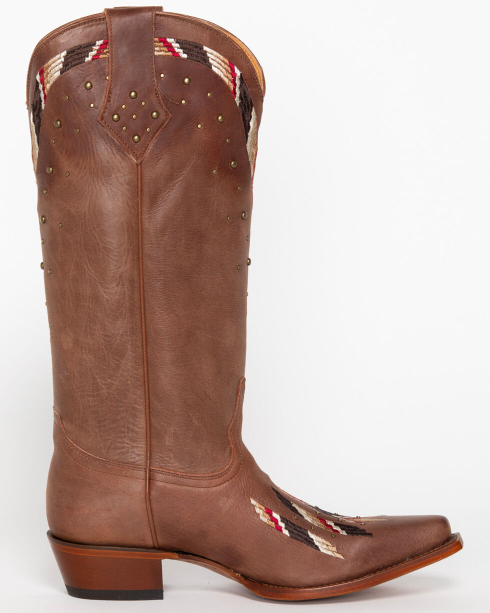 Shyanne Women's Fresno Embroidered Western Boots - Snip Toe, Brown, hi-res