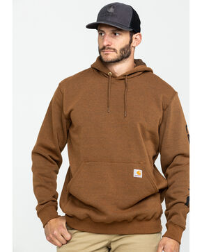 Carhartt Men's Mid Weight Hooded Logo Work Sweatshirt , , hi-res