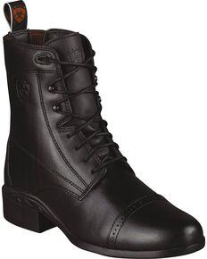 Ariat Heritage Paddock Riding Boots - Round Toe, Black, hi-res