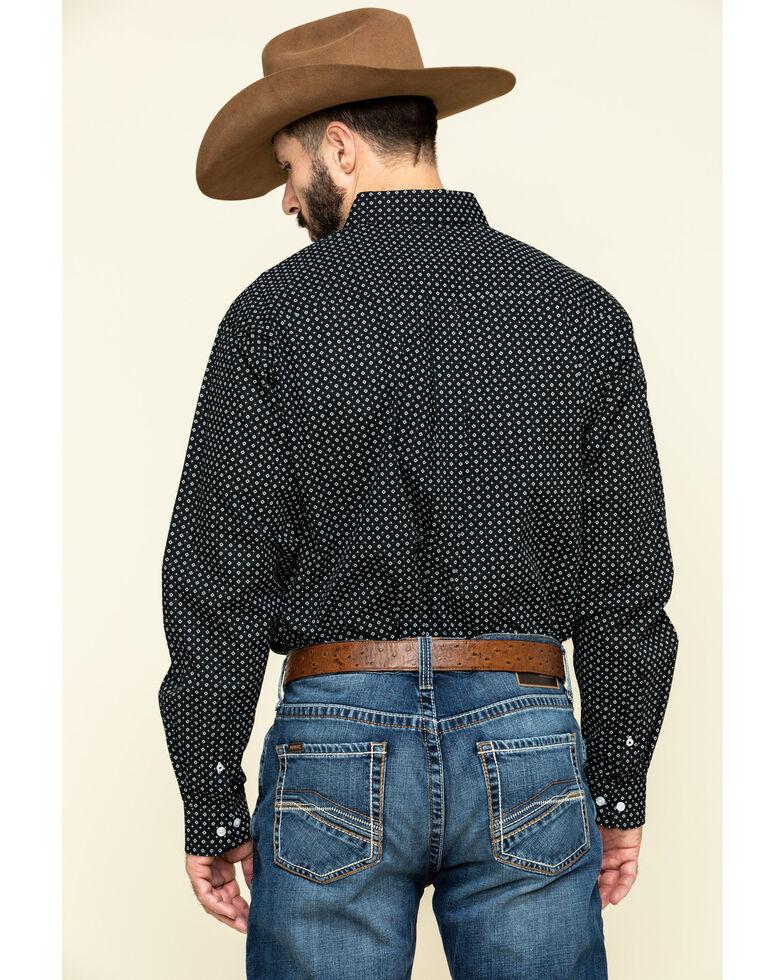 Cinch Men's Black Diamond Geo Print Button Long Sleeve Western Shirt , , hi-res
