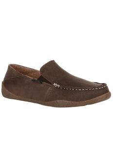 Georgia Boot Men's Cedar Falls Slip-On Shoes - Moc Toe, Brown, hi-res