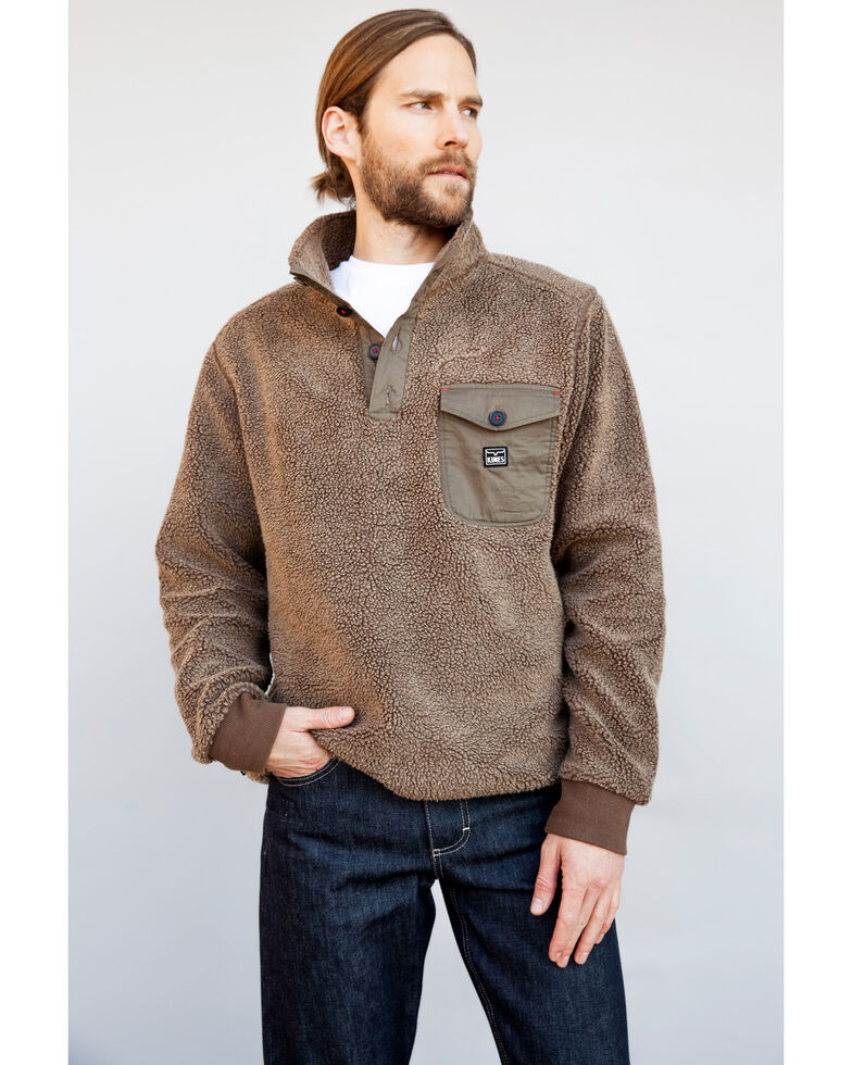 Kimes Ranch Men's Whiskey Pullover Sweater , Brown, hi-res