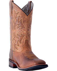 Laredo Women's Anita Tan Cowgirl Boots - Square Toe, Tan, hi-res