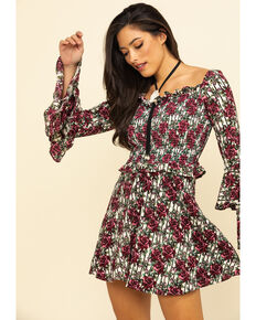 Rock & Roll Denim Women's Floral Print Dress, Multi, hi-res