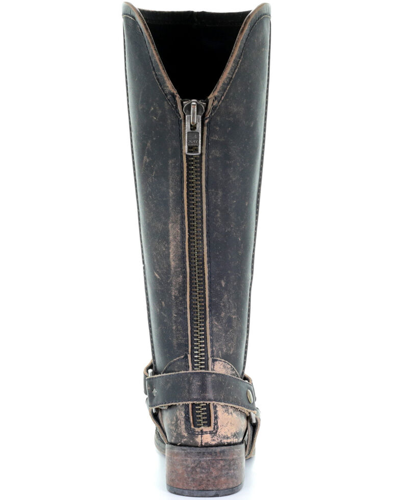 Corral Women's Distressed Harness Western Boots - Round Toe, Black, hi-res