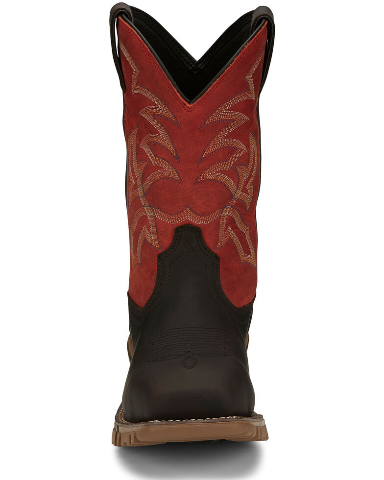 Tony Lama Men's Roustabout Java Western Work Boots - Composite Toe, Brown, hi-res