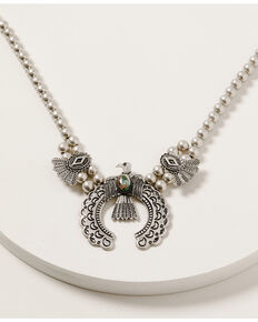 Shyanne Women's Mystic Summer Thunderbird Squash Blossom Necklace, Silver, hi-res