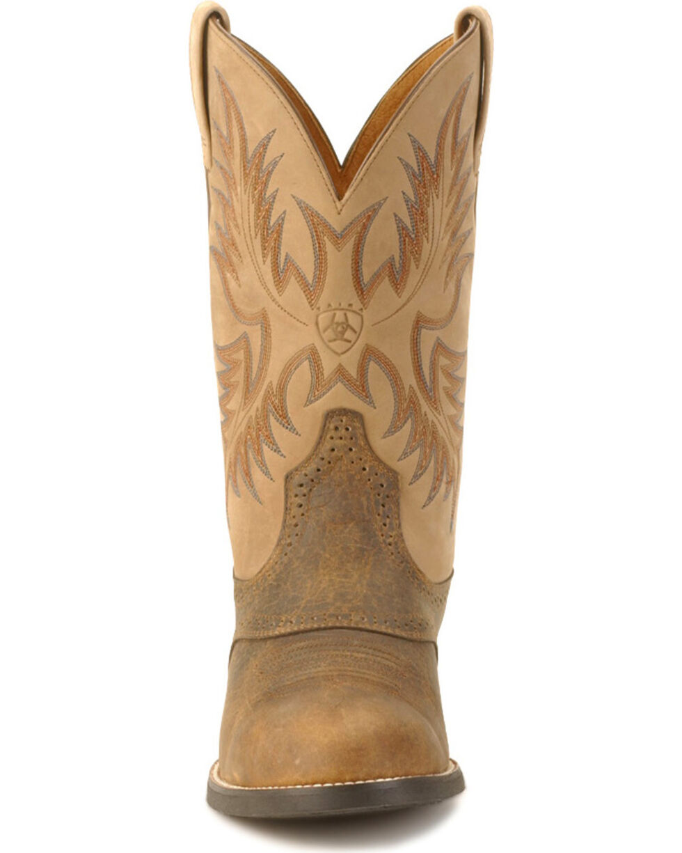 Ariat Men's Heritage Stockman Boots - Round Toe , Brown, hi-res
