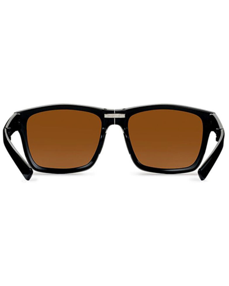 "Hobie Men's Imperial Shiny Black & Copper 2"" Foldable Polarized Reader Glasses , Black, hi-res"