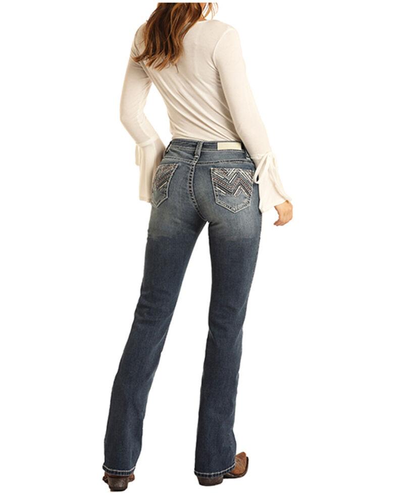 Rock & Roll Denim Women's Juniors Bootcut Jeans, Blue, hi-res