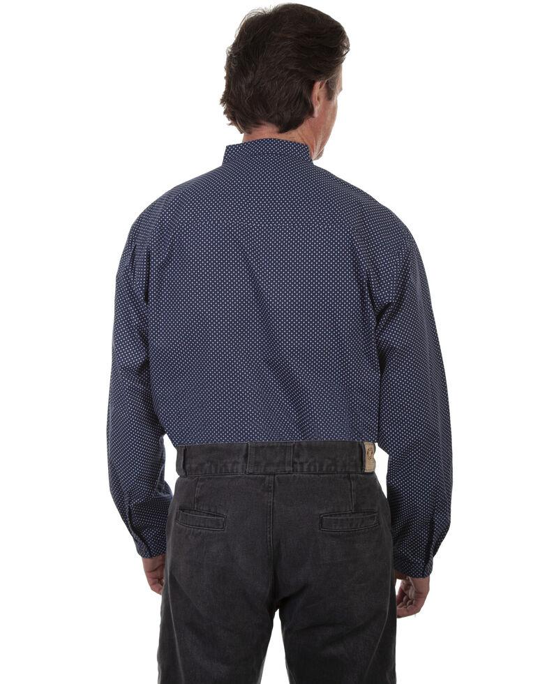 Rangewear by Scully Men's Navy Pattern Long Sleeve Western Shirt, Navy, hi-res