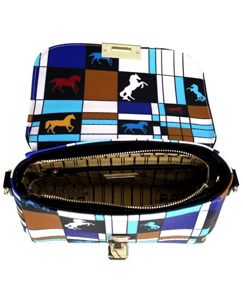 Montana West Women's Trail of Painted Ponies Collection Mini Satchel, Off White, hi-res