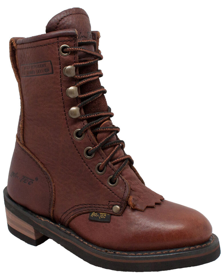 Ad Tec Boys' Packer Boots - Round Toe, Chestnut, hi-res