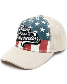 Shyanne Women's Hotter Than a Firecracker Stars & Stripes Graphic Ball Cap , Red/white/blue, hi-res