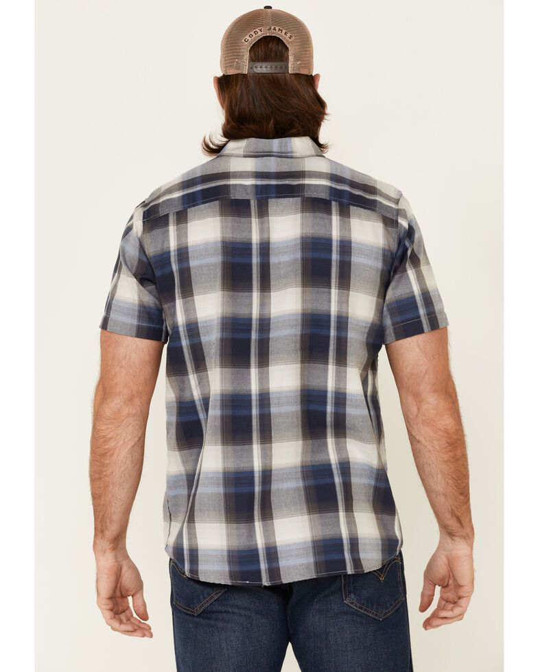 North River Men's Plaid Short Sleeve Button-Down Western Shirt , Blue, hi-res