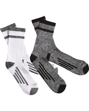 Justin Men's JUSTDRY Half Cushion 2-Pair Socks , Black, hi-res