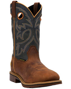 Dan Post Men's Hilldale Western Boots - Square Toe, Tan, hi-res