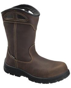 Avenger Men's Framer Waterproof Western Work Boots - Composite Toe, Brown, hi-res