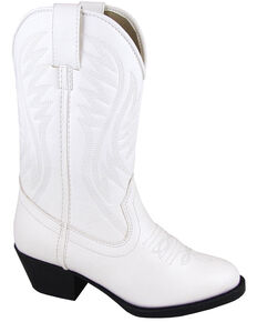 Smoky Mountain Girls' Mesquite Western Boots - Round Toe, White, hi-res