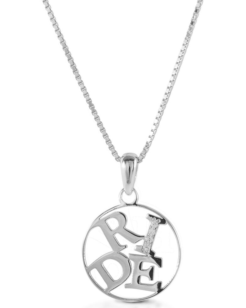 Kelly Herd Women's Ride Pendant Necklace , Silver, hi-res