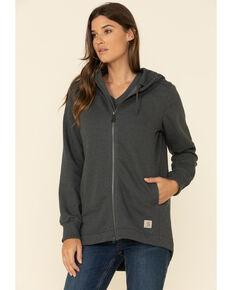 Carhartt Women's Carbon Heather Water Repellent Tunic Sweatshirt, Dark Grey, hi-res