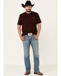 Moonshine Spirit Men's Hang Fire Medium/Light Wash Stretch Slim Bootcut Jeans , Blue, hi-res